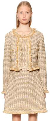 M Missoni Cropped Lurex & Wool Blend Boucle Jacket