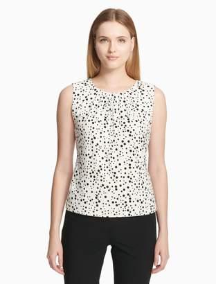 Calvin Klein dot pleat neck cami top