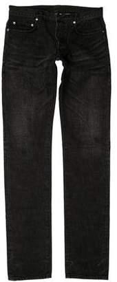 Christian Dior Five Pocket Distressed Skinny Jeans