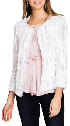 Nic+Zoe Plus Size Playful Fringe Jacket