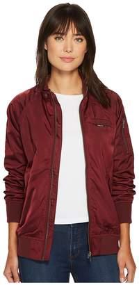 Members Only Washed Satin Ex-Boyfriend Jacket Women's Coat