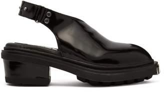 Eytys Carmen Patent Leather Slingback Heels - Womens - Black
