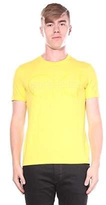 Calvin Klein Jeans Men's Short Sleeve T-Shirt Clear CKJ Logo Crew Neck