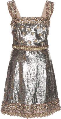 Andrew Gn Sequin Silk-Blend Cocktail Dress