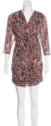 IRO Silk-Blend Printed Dress