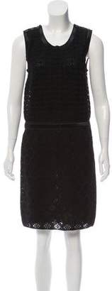 Chanel Silk Knit Sleeveless Dress