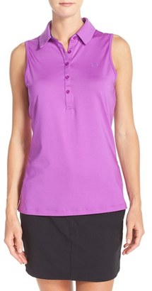 Women's Under Armour 'Zinger' Sleeveless Polo $54.99 thestylecure.com