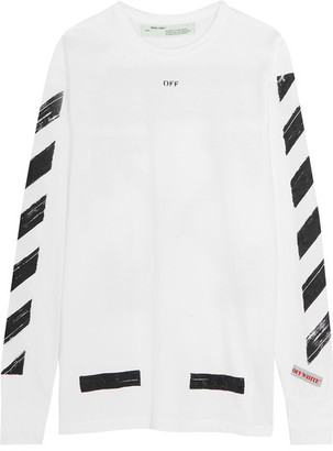 Off-White - Oversized Printed Cotton-jersey Top $305 thestylecure.com