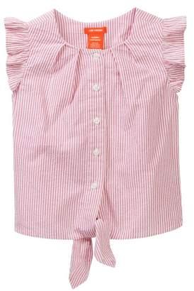Joe Fresh Seersucker Tie Ruffle Blouse (Toddler & Little Girls)