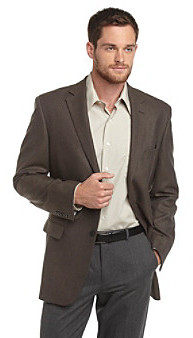 Geoffrey Beene Men's Brown and Charcoal Check Sportcoat