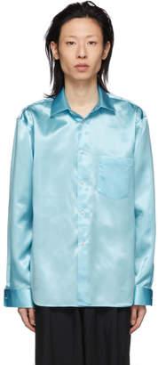 Comme des Garcons Blue Satin Shirt