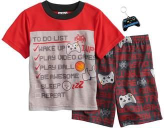 Up Late Boys 6-12 Up-Late Gamer To-Do List 2-Piece Pajamas