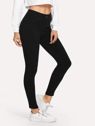 Shein Elastic Waist Leggings
