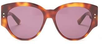 Christian Dior Lady Diorstuds2 Acetate Sunglasses - Womens - Tortoiseshell
