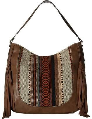 M&F Western Saddle Blanket Fringe Large Shoulder Bag Shoulder Handbags