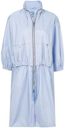 Prada cropped sleeve zipped raincoat