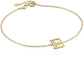 "N. 14k Italian Initial ""E"" Adjustable Link Bracelet"