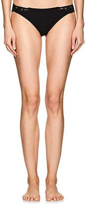 La Perla Women's Souple Cotton-Blend Jersey & Lace Thong - Black
