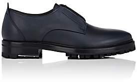 Lanvin Men's Gore-Detail Leather Derbys-Navy