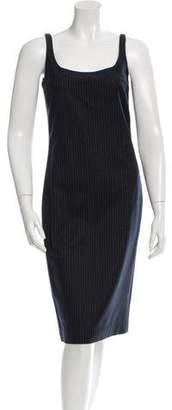 Calvin Klein Collection Pin Stripe Sleeveless Dress