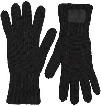 Prada Wool Rib Knit Gloves