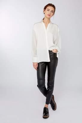 Amanda Wakeley Sinai Ecru Pleat Shirt