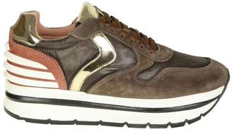 Voile Blanche may Sneakers In Brown Leather And Fabric