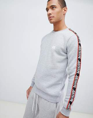 Hype sweatshirt in grey with taping
