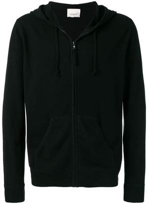 Laneus zip front hooded cardigan