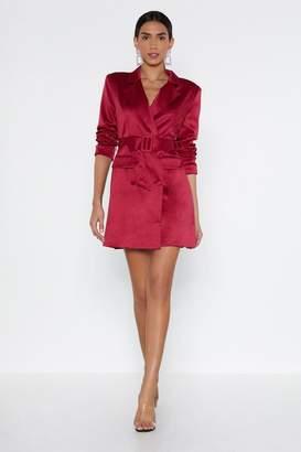 7563e5be64f9 Nasty Gal Powers That Be Blazer Dress