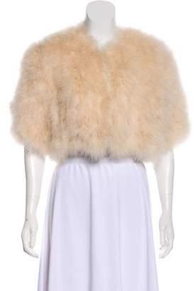 Adrienne Landau Marabou Fur Cropped Jacket w/ Tags