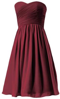 745fba2546b DaisyFormals reg  Inexpensive Bridesmaids Dress Knee Length Prom Dress  (BM333AS)- Dark Scarlet