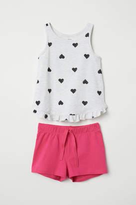 H&M Tank Top and Shorts - Gray