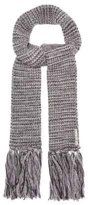 Acne Studios Tassel Trimmed Knit Scarf - Womens - Grey