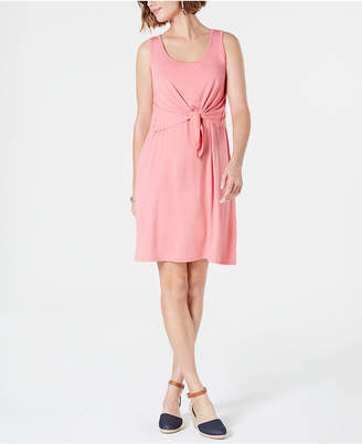 Style&Co. Style & Co Petite Sleeveless Tie-Front Dress