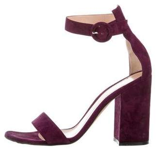 Gianvito Rossi Suede High-Heel Sandals