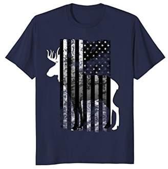 Moose Hunting Flag shirt American Flag Patriotic Tee Adults