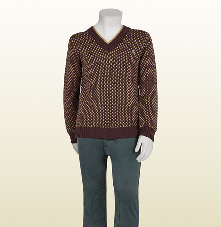 Gucci Merino Wool V-Neck Sweater