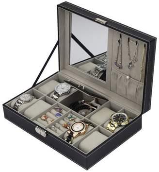 Generic Multifunctional 8 Grid Watch Case Display Box Storage Bracelet Jewelry Organizer