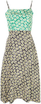 HVN daisy print dress