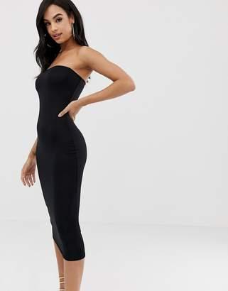 PrettyLittleThing Bandeau Midi Dress