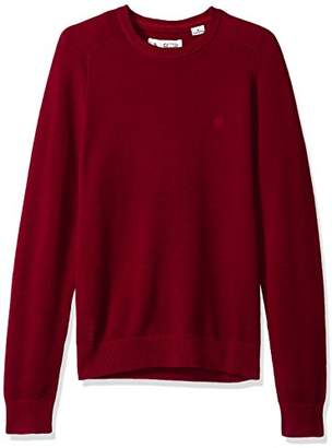 Original Penguin Men's Long Sleeve Honeycomb Pique Crew Neck Sweater