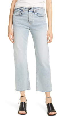 Rag & Bone Maya High Waist Ankle Straight Leg Jeans