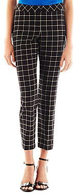 JCPenney Worthington® Slim Patterned Ankle Pants