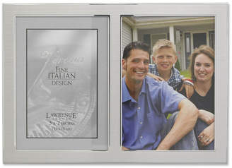 "Lawrence Frames Brushed Silver Metal and Shiny Metal Two Tone Hinged Double Opening Panel - 5"" x 7"""