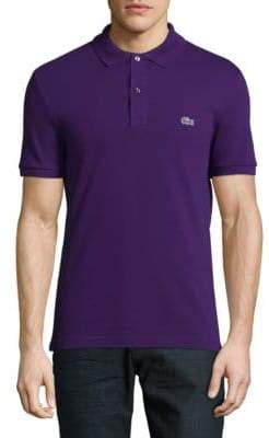 Lacoste Short Sleeve Ribbed Collar Polo Shirt