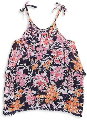 Ella Moss Girl's Ashley Printed Chiffon Top