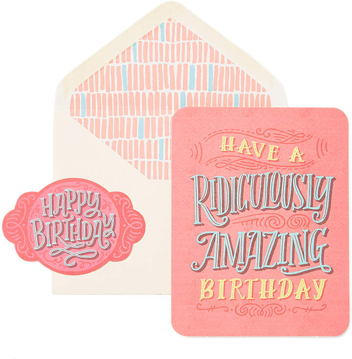'Ridiculously Amazing Birthday' Greeting Card & Seal Set
