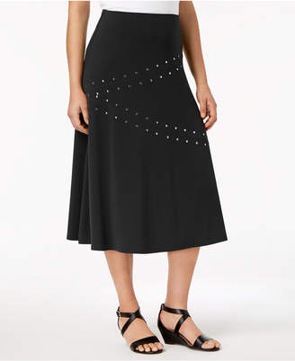 JM Collection Embellished A-Line Skirt, Created for Macy's