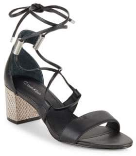 Calvin Klein Natania Leather Sandals